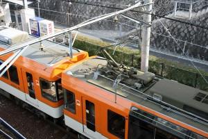 叡電 デオ900系 きらら 屋根上