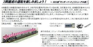 カトー 28-144-2 683系増結セット用動力装置2 (リニューアル車対応)