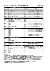 光り分けライト基板対応表2019-2