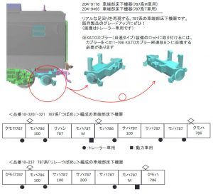 カトー 787系車端部機器