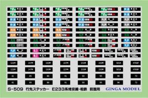 銀河モデル E233系埼京線相鉄直通前面用ステッカー