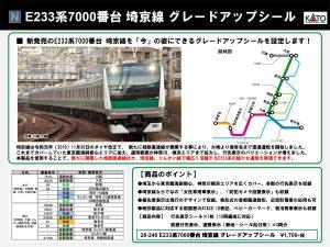 ホビーセンターカトー 28-240 E233系7000番台埼京線グレードアップシール