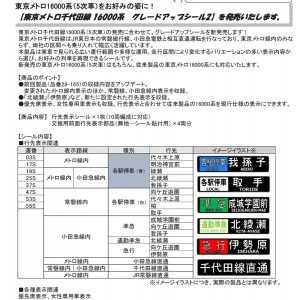 カトー 28-165N 東京メトロ千代田線16000系グレードアップシール2