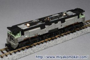 カトー EF65 リプルフィルタ搭載・常点灯ライト基板交換