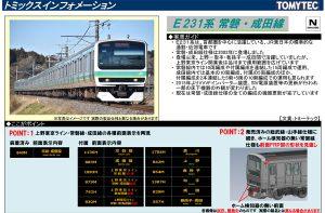 トミックス E231系0番台 常磐・成田線・更新車